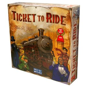 click to buy the Ticket to Ride Board Game at Amazon